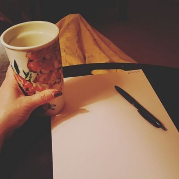 Writing Letters early in the morning (with coffee)