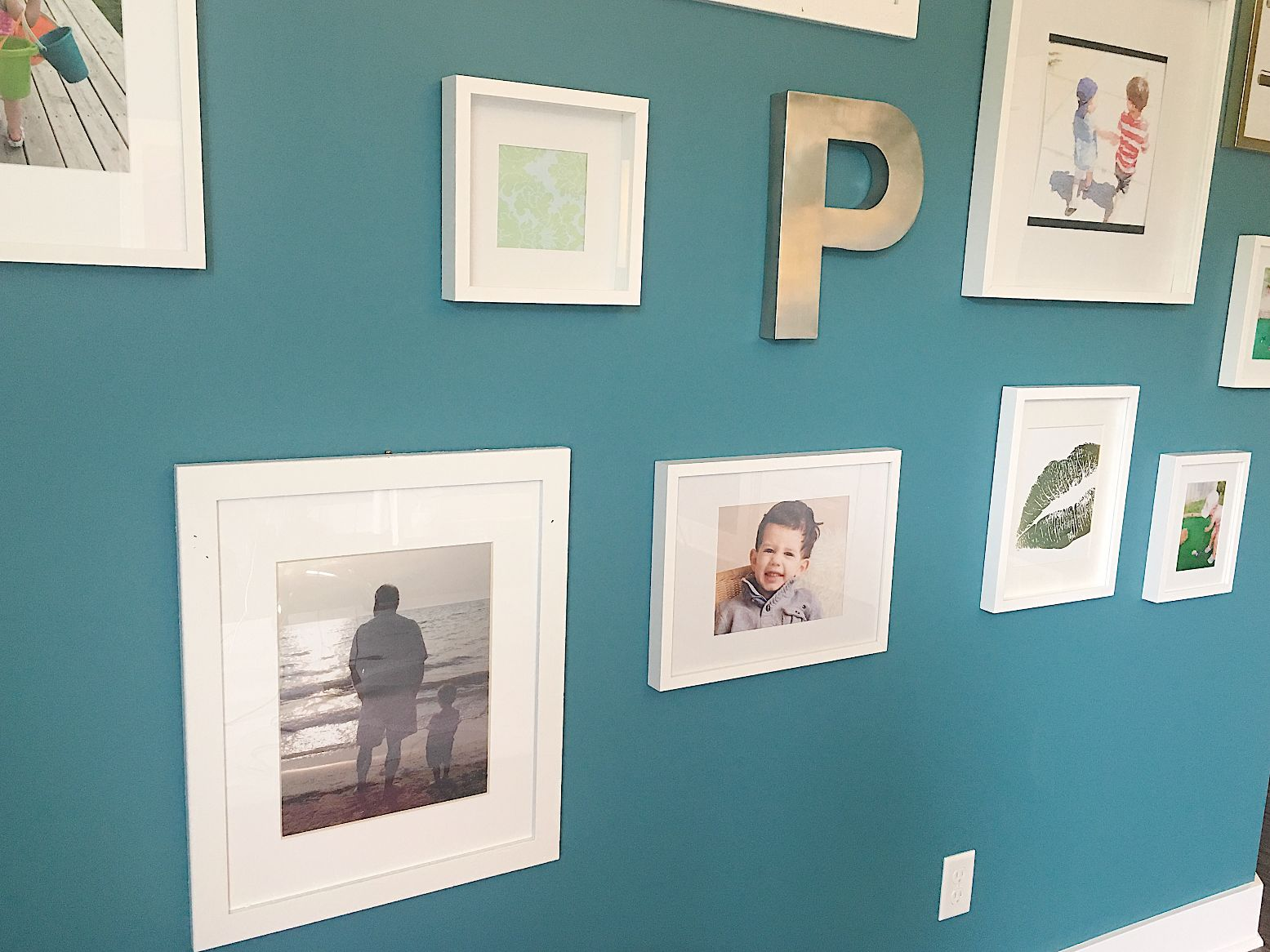 Gallery Wall with Family Memories Laura Pursley